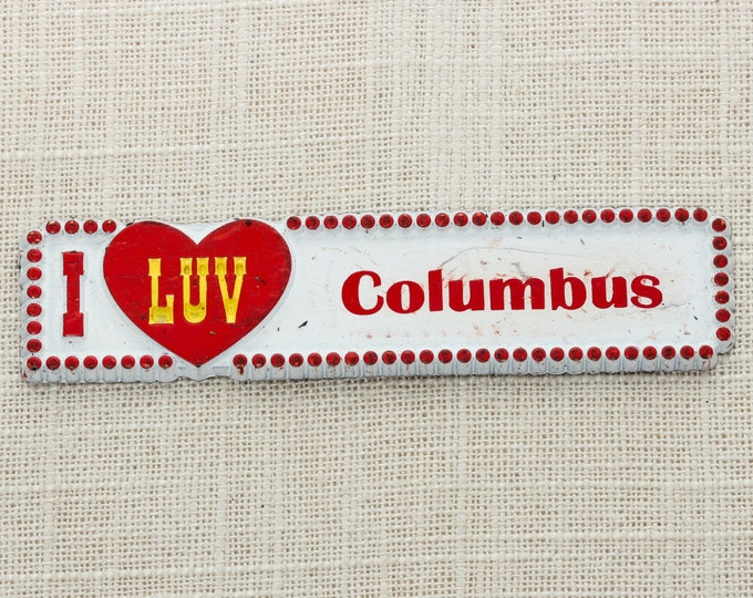 "Columbus Magnet ""I LUV COLUMBUS"" 