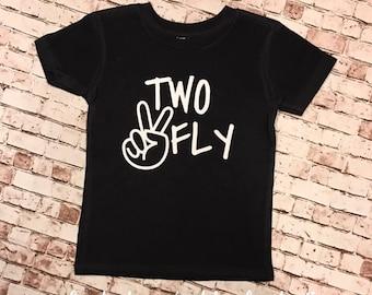 Two Fly birthday shirt