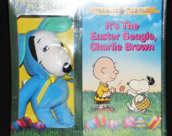 1994 Snoopy VHS Video and Plush Toy Set