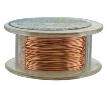 Craft Wire Tarnish Resistant Rose Gold Round Wire 24ga 10yd (WR6724R)