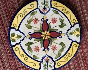 Ceramic Trivet,Mediterranean Trivet,Floral Trivet,Earthenware Trivet,Spanish Trivet,Spanish Kitchen,Pottery Trivet,Stoneware Trivet,Trivet