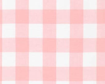 1 Inch Plaid - Carolina Gingham in Petal Pink by Robert Kaufman - 1 yard increments