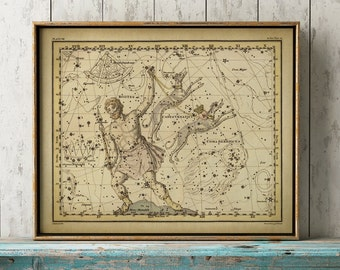 Constellations print, astronomy room decor, astronomy poster, stars chart, celestial wall art, dorm wall decor, Bootes