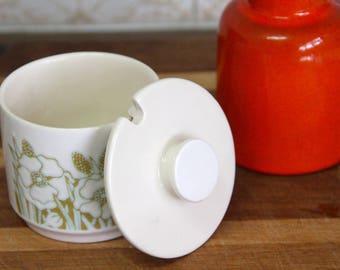 Vintage Retro 1970's Hornsea  Fleur Tea Sugar Bowl