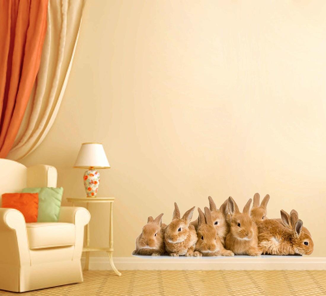 Animals wall Decals rabbits wall Decals rabbits wall decor