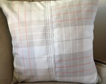Neutral Pillow Cover 20 x 20 inch Pillow Cover Tan Cream Pillow Cover Fall|Autumn Pillow Cover Tan Plaid Pillow Cover Neutral Home Decor