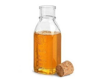 8 oz Muth Glass Honey Bottle with Cork Stopper