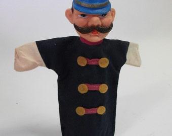 Vintage Fairy Tale Mustache Copper Puppet