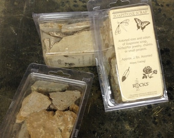 2 Pounds of Sculpture Quality Soapstone in Assorted Sizes and Colors