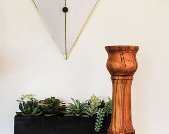 Medium Wood Candlestick From A Tree Named Nando
