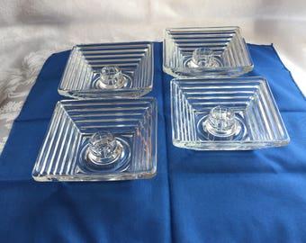 Vintage glass candlestick or votive holders