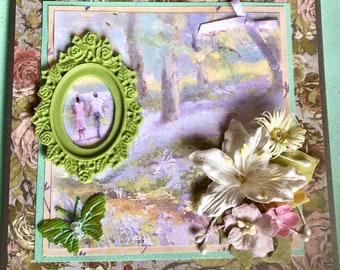 Shabby Chic Handmade Card OOAK