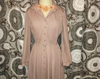 Vintage Polk a dot dress