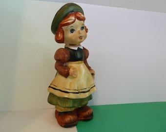 Enesco Figurine, Vintage, Red Headed, Young Girl