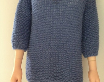 Hand knitted oversized sweater