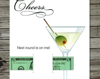 Next Round Martini Money Card