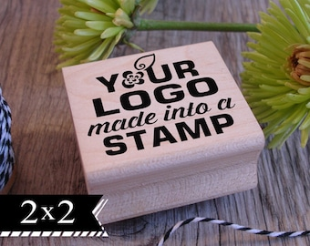 2x2 Custom rubber logo stamp, custom logo rubber stamper, stamp with handle, personalized stamp, laser engraved stamp, logo rubber stampers