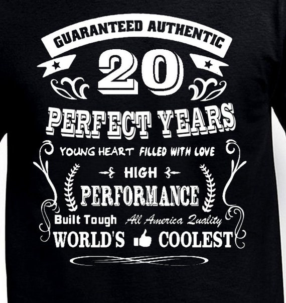 Birthday Quotes For A 20 Year Old Items Similar To Funny 20th Gift T