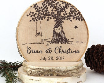 Rustic Wedding Cake Topper. Old Tree with Swing Cake Topper. Rustic Wood Cake Topper. Rustic Cake Topper. Rustic Wedding