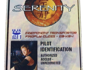Firefly Serenity Wash Prop ID Badge