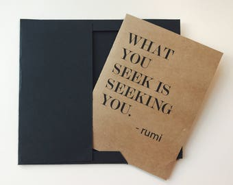 Rumi Blank Card