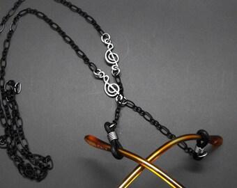 Music Eyeglass Chain Holder Musician Gift Musical Theme Treble Clef Eye Glass Lanyard