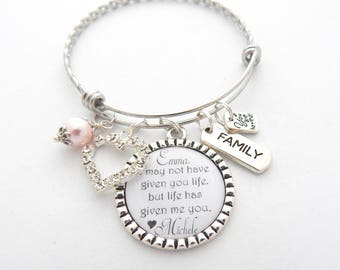Personalized STEP DAUGHTER GIFT-Step daughter Jewelry-Adoption Gift-Family Jewelry-Family GIft-Ffrom Step Mom-Blended Family-Foster Parent