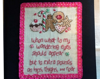 Journal with Colorful Hand-Stitched Cover Great for Weight Watchers