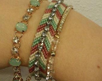 Braided Rhinestone Bracelet: Made to Order