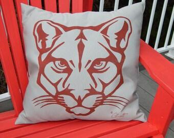 Outdoor Pillow Cougar Mountain Lion Puma Panther 20