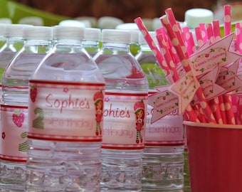 Strawberry Shortcake Water Labels