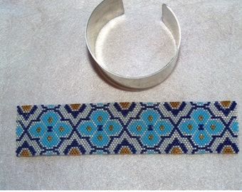 How to add beadwork to a metal cuff for a bracelet