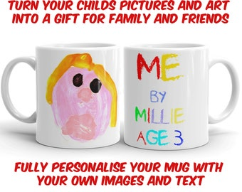 Personalised Mug -Childs Art. Gift for Family & Friends