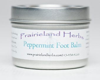 Peppermint Foot Balm - all natural moisturizing refreshing salve