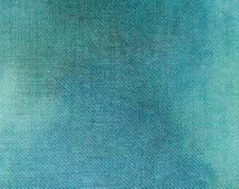 Special Order! 32 ct. Hand-painted Linen CROSSED WING COLLECTiON Deep Sea cross stitch fabric at thecottageneedle.com