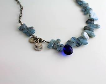 Blue Kyanite and Quartz Necklace