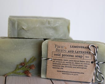Lemongrass and Lavender - cold process soap