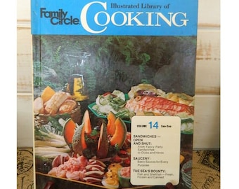 FAMILY CIRCLE Illustrated Library of COOKING -  Volume 14 - 1972 Vintage Cookbook