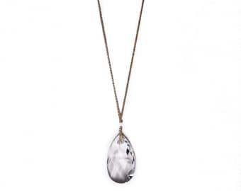 Clear CHLOE NECKLACE * large pendant drop statement necklace