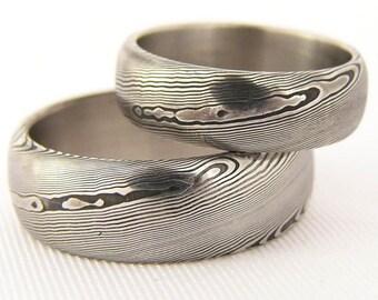 Rubir damasteel wedding rings/damascus steel ring/man ring/wedding or engagememt rings for women and man/steel ring