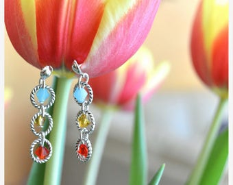 Earrings dangle swarovski crystals