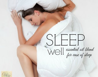 SLEEP WELL essential oil blend | Insomnia relief | drug-free sleep aid | essential oils for insomnia | Fall Asleep