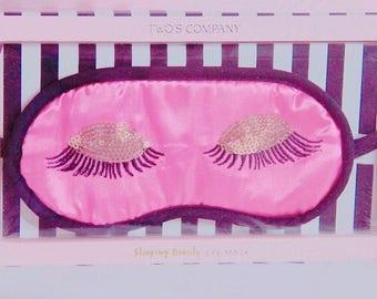 Pink eyelash girl sleep mask