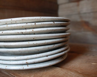 Small Plate - Salad Plate - Made to Order -  Ceramics & Pottery - Dinnerware Set - Handmade - KJ Pottery