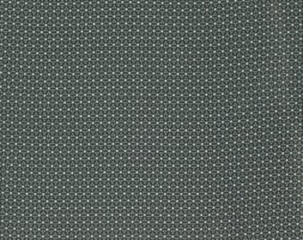 "End of Bolt 1 yard 24"" of Katagami Pinpoints Steel Grey by Parson Gray for Free Spirit"