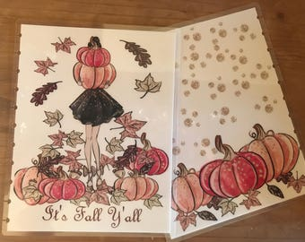 Big Happy planner fall covers. Available for the 11 hole punched happy planner. Planner decorations, supplies, accessories.