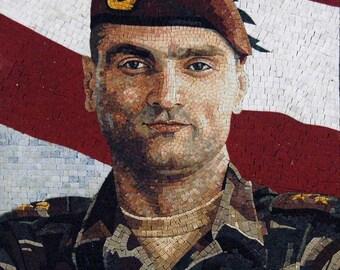 Custom Mosaics- Military Martyrs Portraits