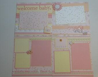 Baby Girl Premade 8 x 8 Scrapbook