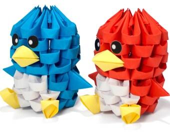 3D Origami Tiny Bird
