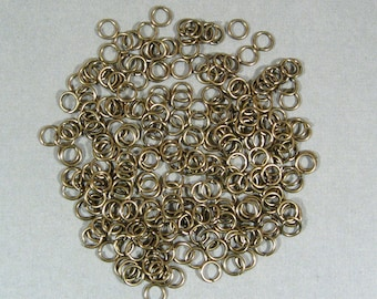 6mm Antique Brass Jump Rings